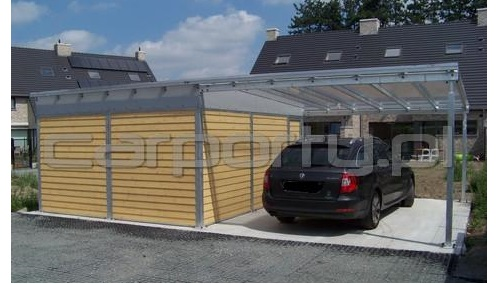 Manufacturer of carports with storage room or storage shed Carport with storage room